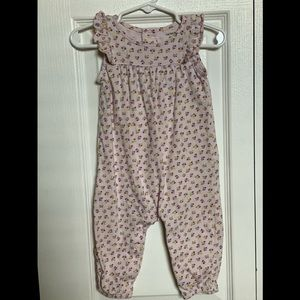 Carter's 9 mth floral sleeveless jumpsuit